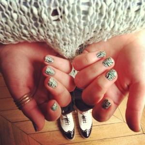 ongles vert