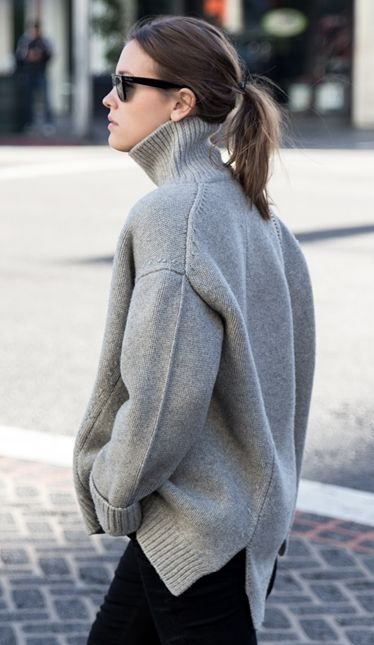 streetstyle-inspirations-fall-mood-grey-knit-sweater-theworldofbergere